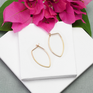 Protection Small Gold Petal Hoop Earrings