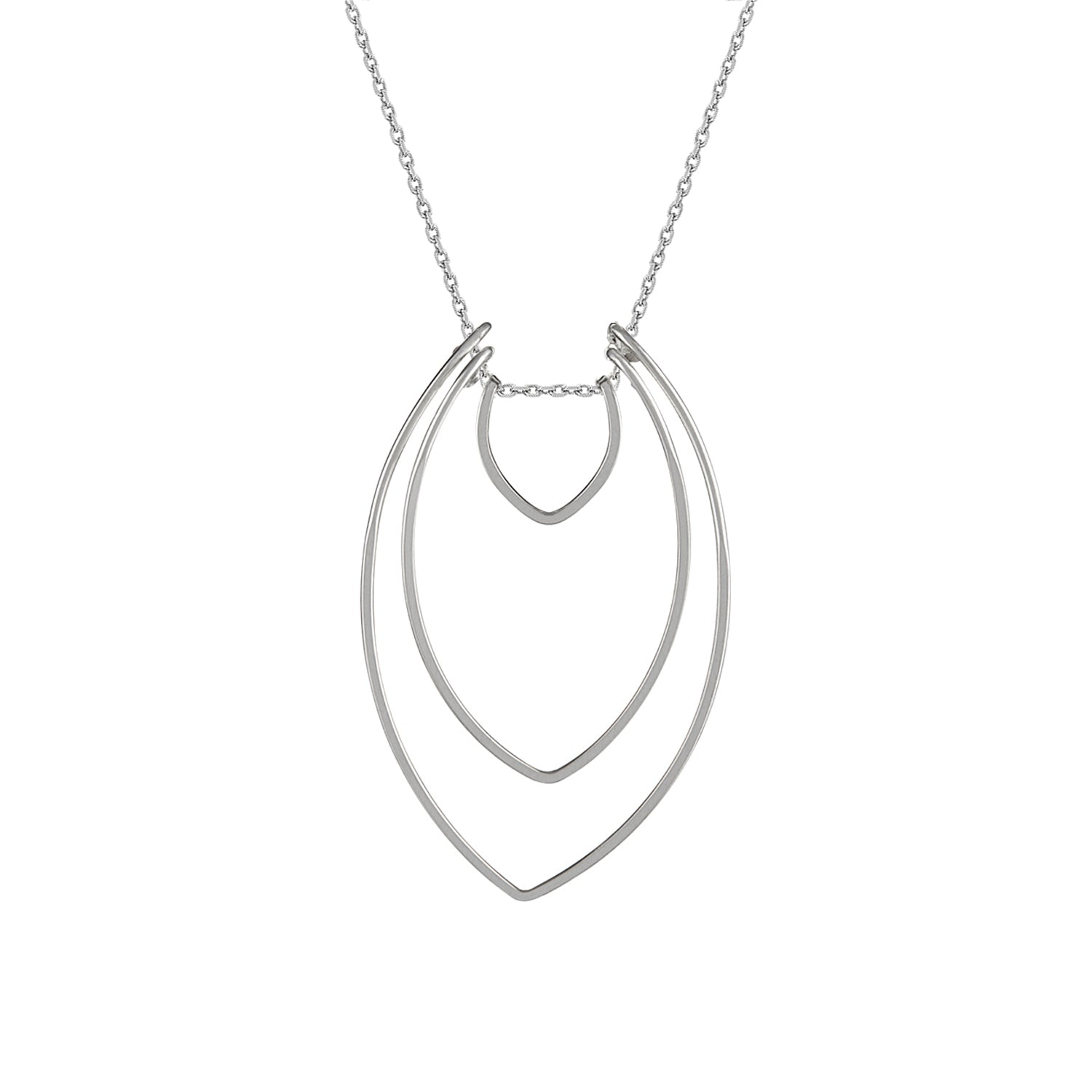 Amulet Silver Three Petal Necklace