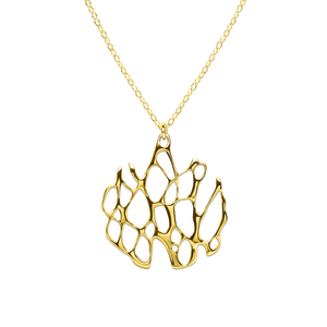 Opuntia Gold Medium Circle Cactus Necklace