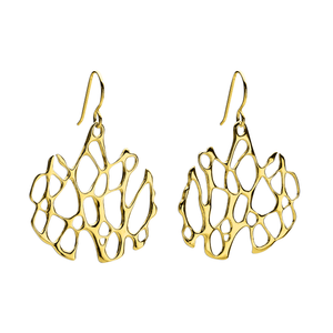 Opuntia Gold Medium Circle Cactus Earrings