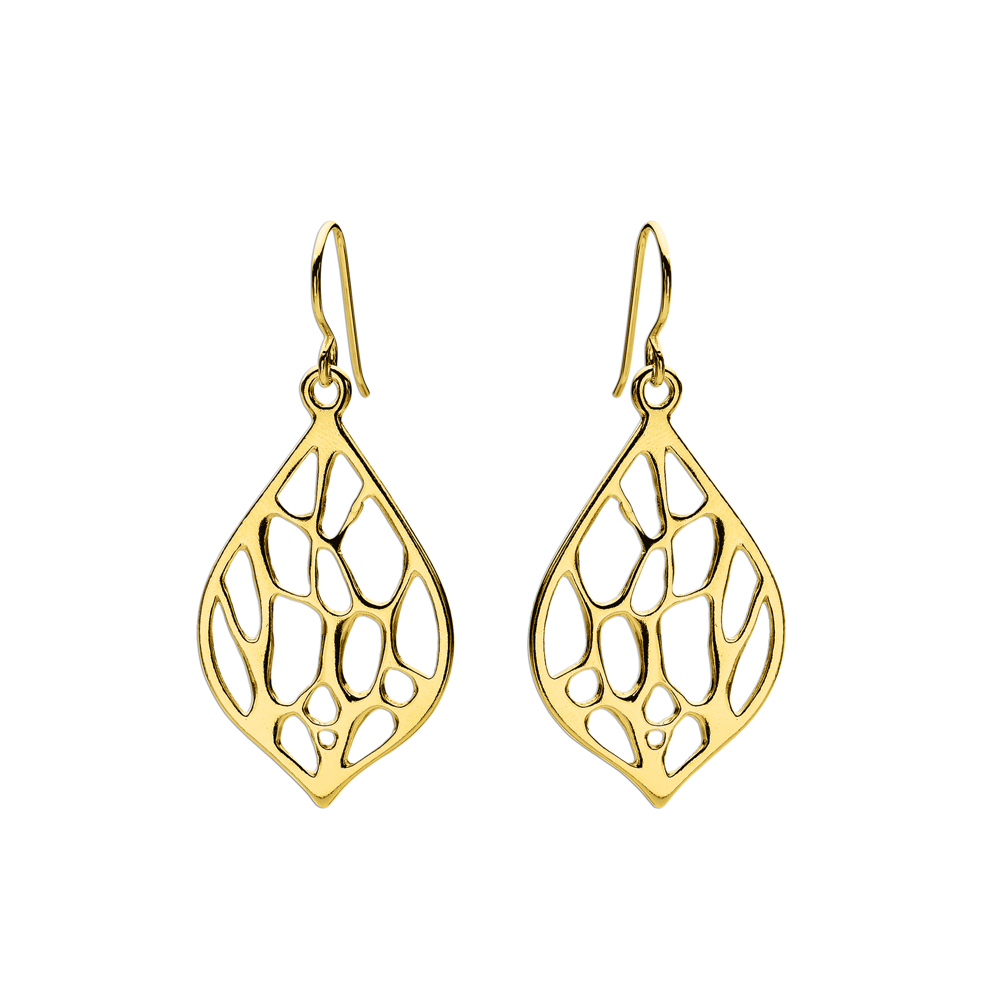 Opuntia Gold Medium Framed Lily Cactus Earrings
