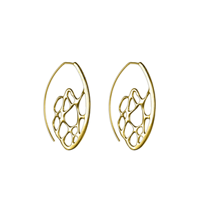 Opuntia Gold Small Sunrise Hoop Cactus Earrings
