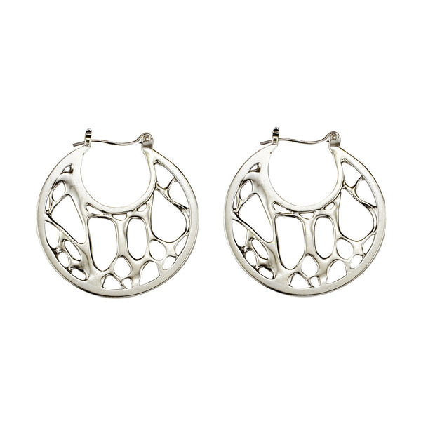 Opuntia Medium Framed Open Circle Hoop Earrings