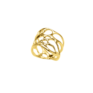 Opuntia Gold Thick Cactus Ring