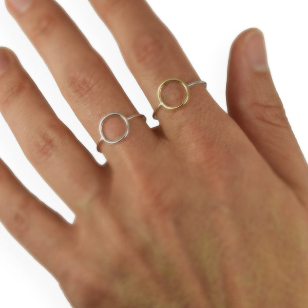 Cynthia Silver Circle Ring