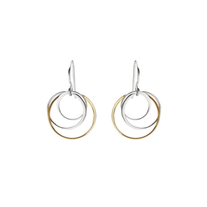 interlinked circle earrings