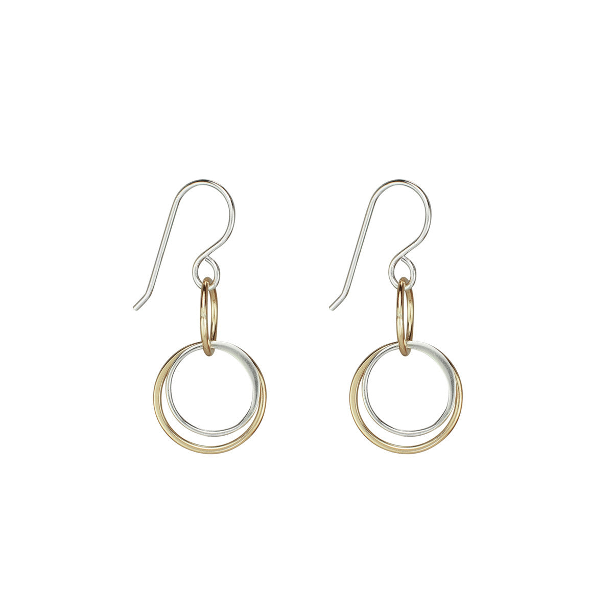 linked circle earrings
