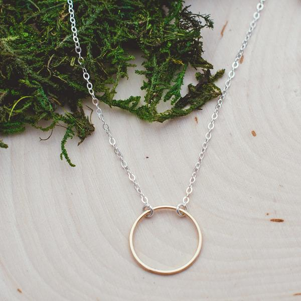 Cynthia Gold Circle Necklace