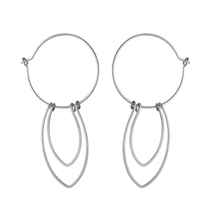 Amulet Sterling Silver Petal Hoop Earrings