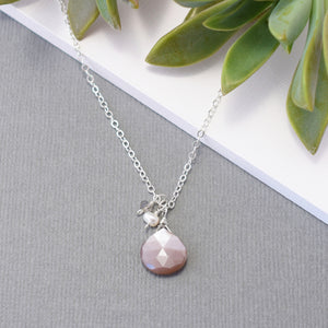 Chocolate Moonstone with Accent Gems Necklace