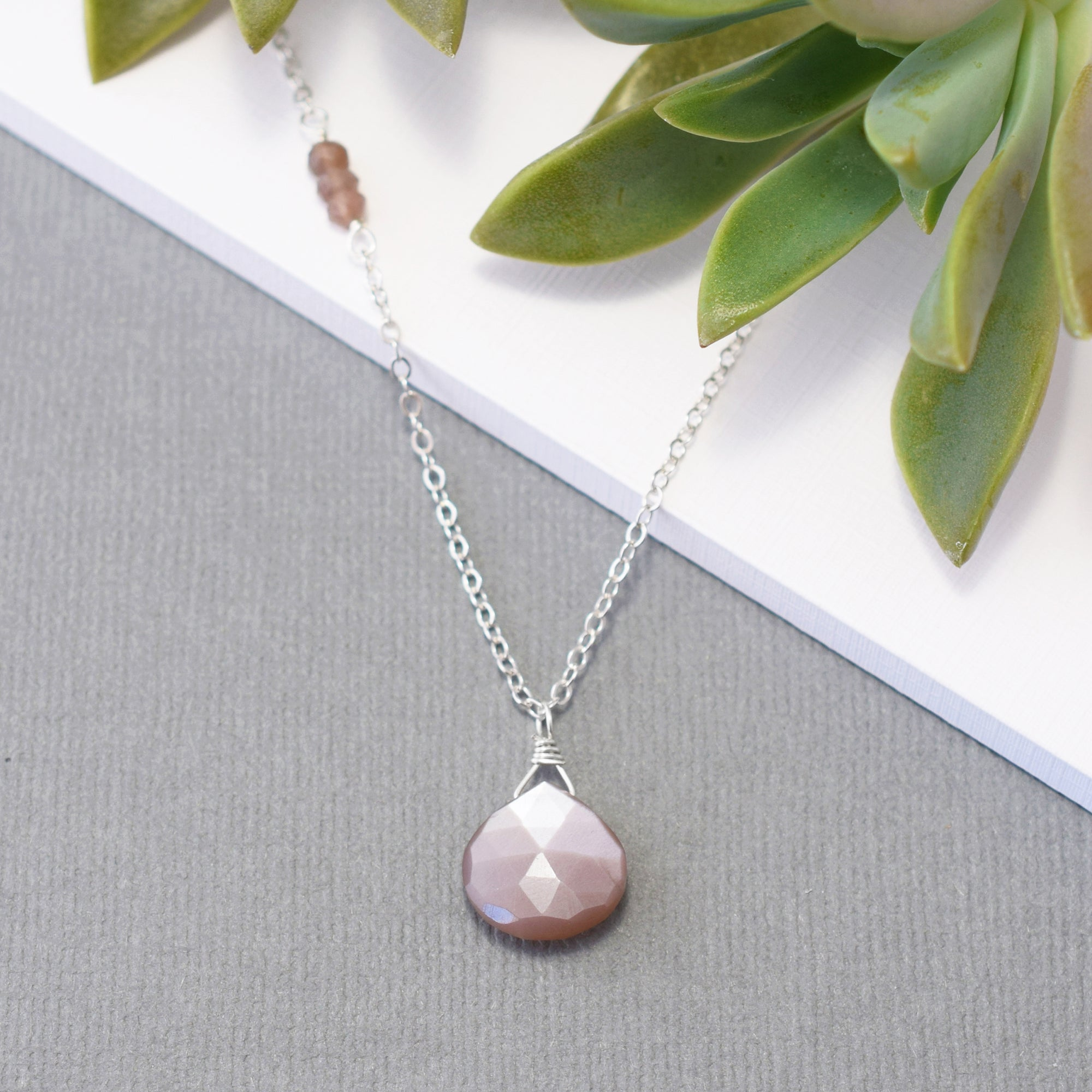 Chocolate Moonstone Necklace