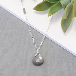 Gray Moonstone Necklace