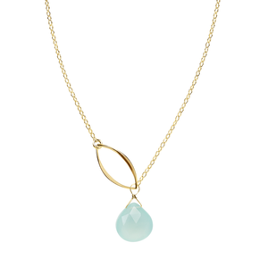 gold leaf lariat necklace