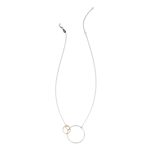 interlinked three circle necklace