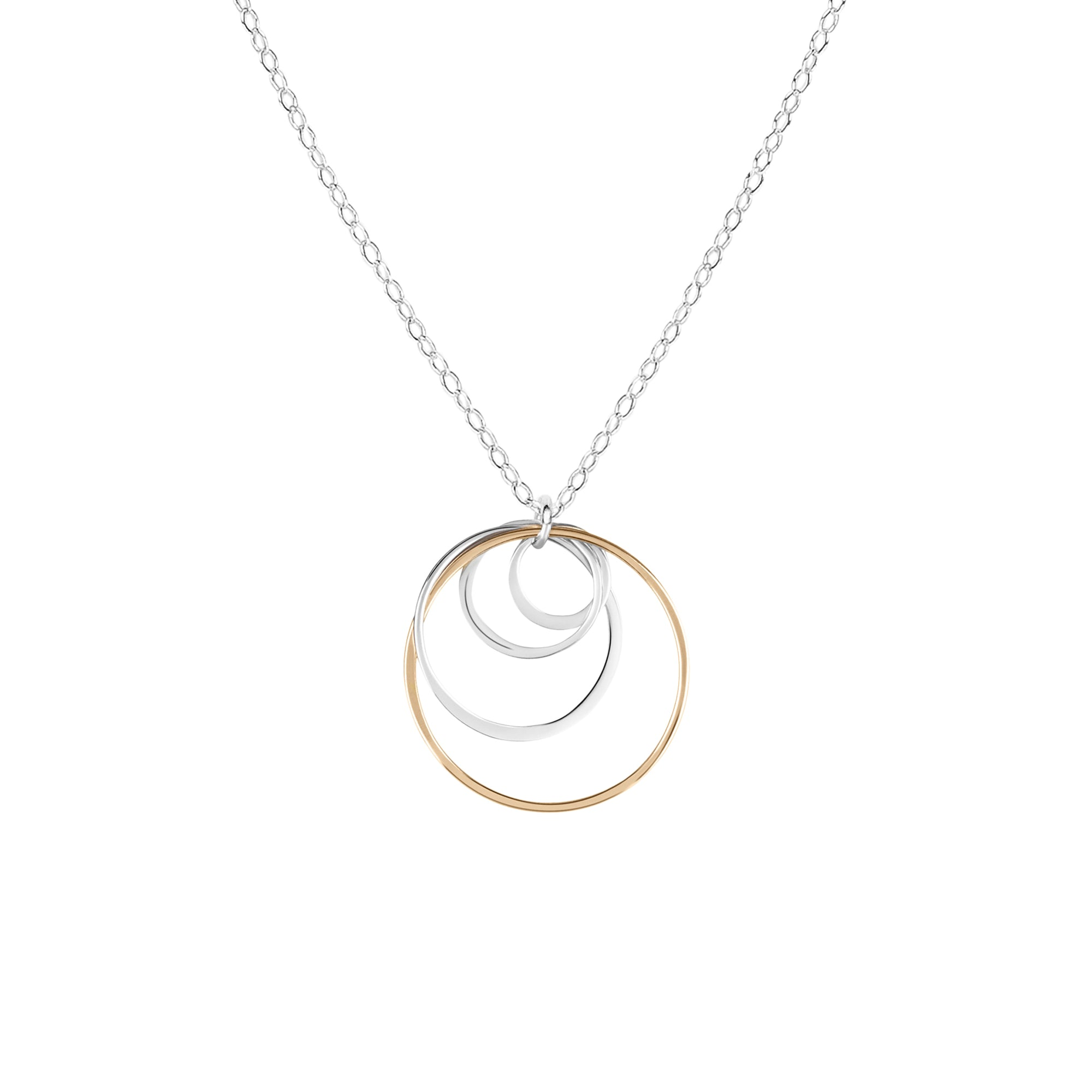 "Cynthia ""Mom"" Circle Necklace - Four Circles"