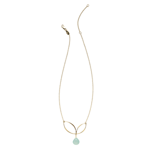 Ella Gold Bud Necklace with Gemstone