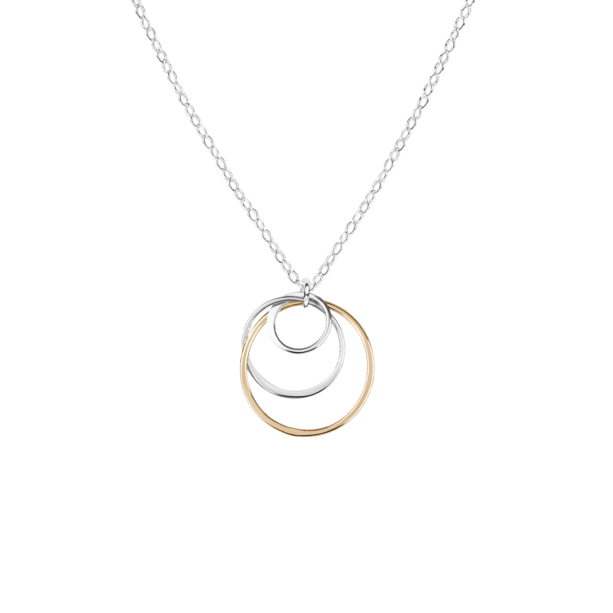 "Cynthia ""Mom"" Circle Necklace - Three Circles"