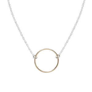 gold infinity circle necklace