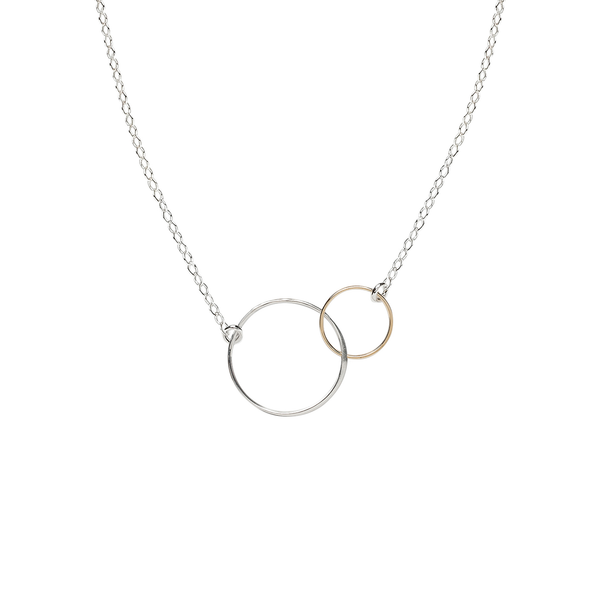 Cynthia Mini Linked Gold & Silver Circle Necklace