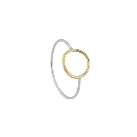 Cynthia Gold Circle Ring