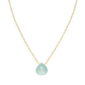 simple gold gemstone necklace