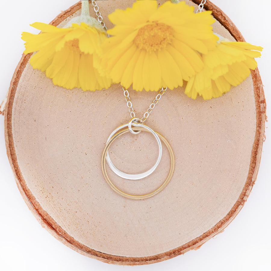 "Cynthia ""Mom"" Circle Necklace - Two Circles"