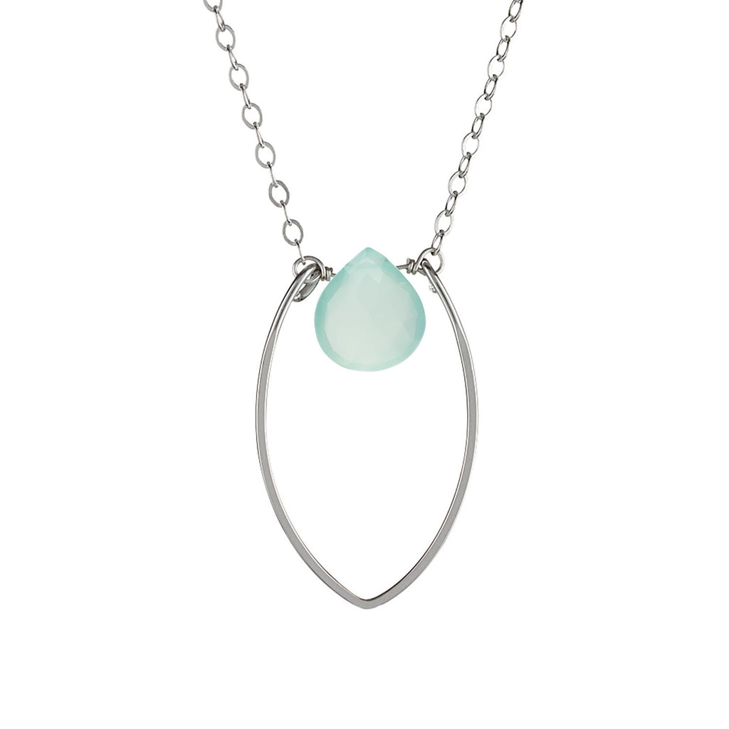 Protection Small Petal and Heart Gemstone Necklace