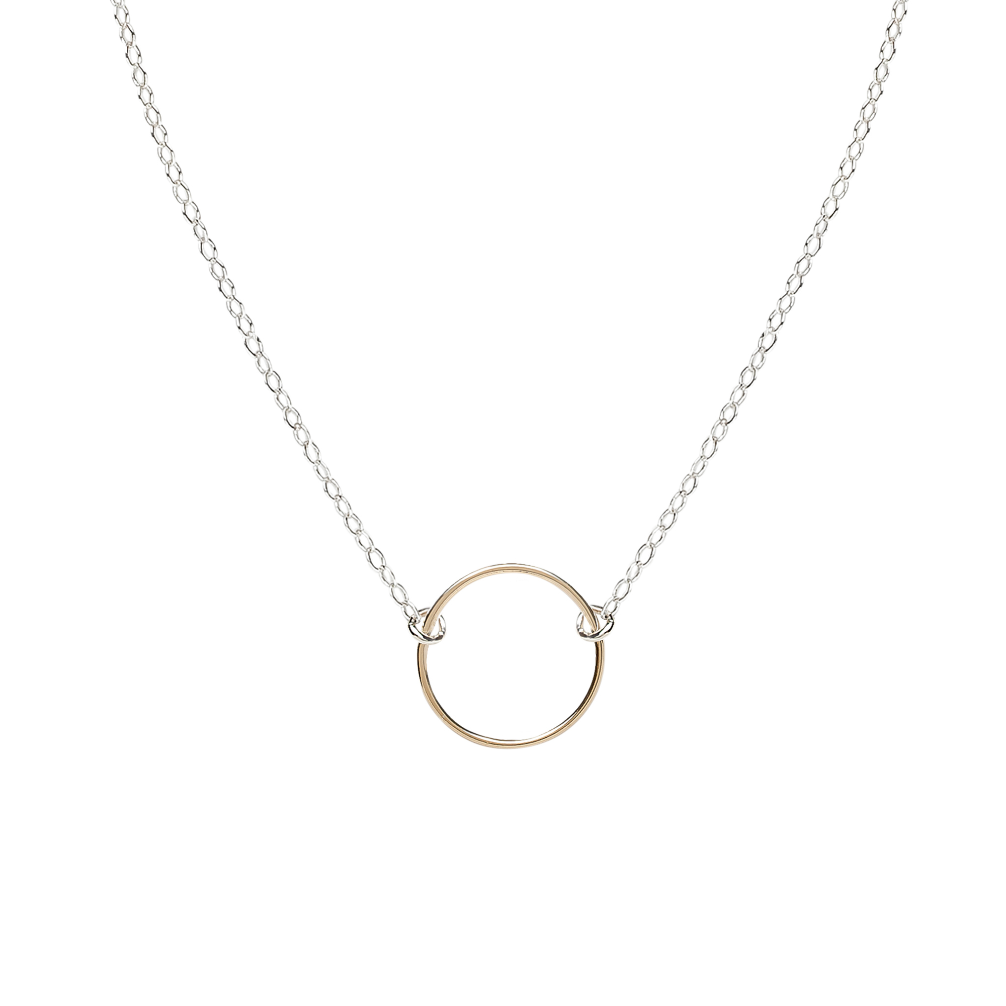 Cynthia Mini Gold Circle Necklace