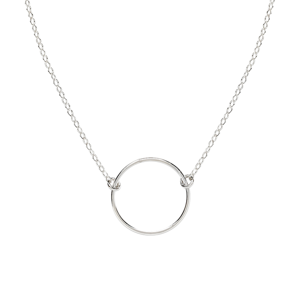 silver infinity necklace