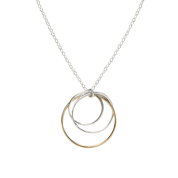 three interlocking circles necklace