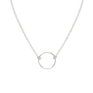 Cynthia Mini Silver Circle Necklace