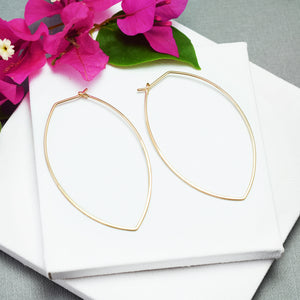 Amulet XL Gold Petal Hoop Earrings