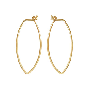 Protection XL Gold Petal Hoop Earrings