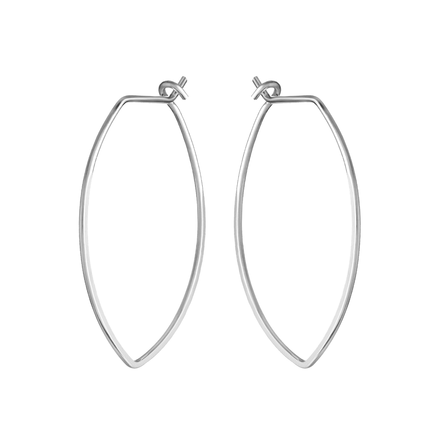 Amulet XL Silver Petal Hoop Earrings