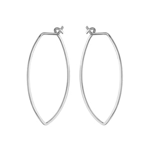 Protection XL Silver Petal Hoop Earrings