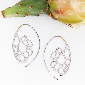 Opuntia Small Sunrise Hoop Cactus Earrings