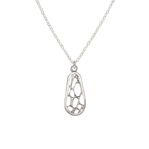 Opuntia Medium Framed Oval Cactus Necklace