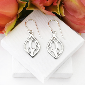 Opuntia Small Framed Lily Cactus Earrings