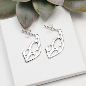 Opuntia Small Framed Lily Post Cactus Earrings