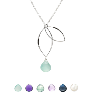 Ella Petal Necklace with Gemstone