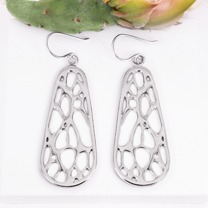 Opuntia Large Framed Oval Cactus Earrings