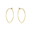 Protection Medium Gold Petal Hoop Earrings
