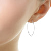 Protection Medium Silver Petal Hoop Earrings
