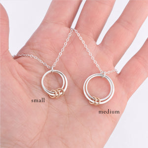 Custom Double Circle Family Necklace - Small
