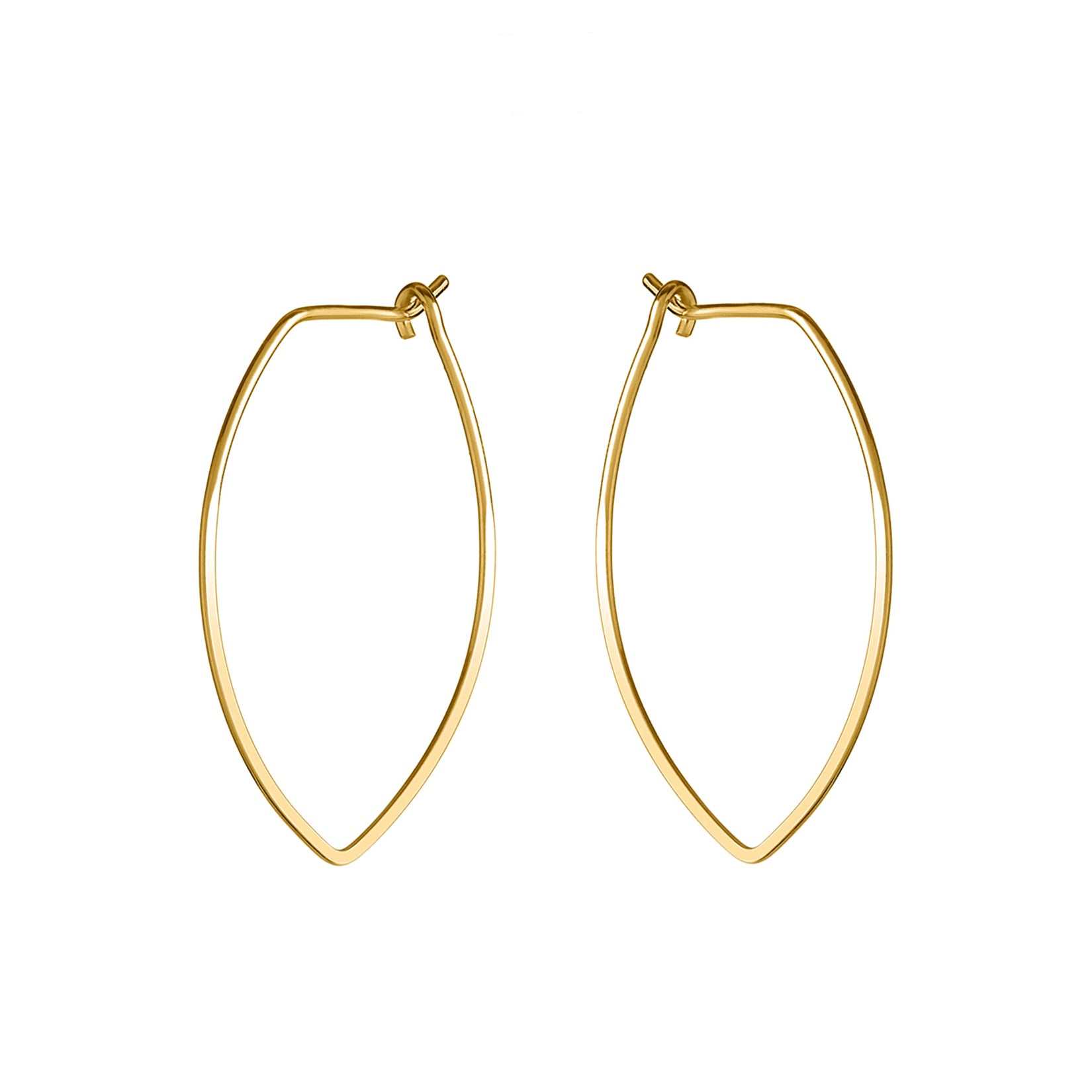 Amulet Large Gold Petal Hoop Earrings