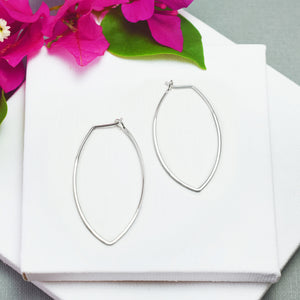 Amulet Large Silver Petal Hoop Earrings