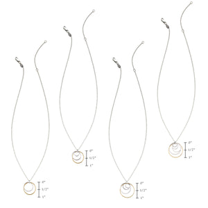 "Cynthia ""Mom"" Circle Necklace - Five Circles"