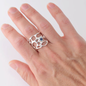 Opuntia Thick Handmade Cactus Ring with Gemstone