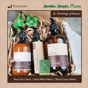 Hampers Greetings of Success (HGel150ml+HWash 500ml+HCream 300ml+Box)