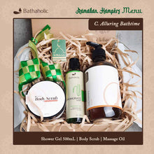 Load image into Gallery viewer, Hampers Alluring Bathtime (Lemongrass = SWG 500ml+B.Scrub+MSO+Box)
